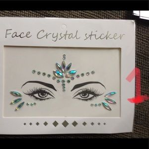 NWT Face Crystal Stickers Chest Rave Festival